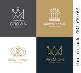 set of  crown logo templates.... | Shutterstock .eps vector #401540764
