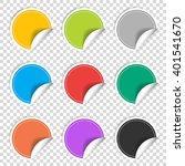 colorful nine transparent blank ...   Shutterstock .eps vector #401541670