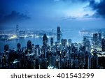 hong kong from the victoria peak | Shutterstock . vector #401543299