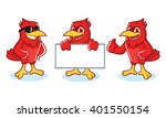 cardinal mascot vector happy... | Shutterstock .eps vector #401550154
