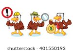 eagle mascot vector with sign ... | Shutterstock .eps vector #401550193