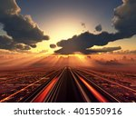 3d illustration of the future... | Shutterstock . vector #401550916