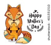 happy mothers day card in...   Shutterstock .eps vector #401551510
