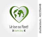 vector earth day poster design. ...   Shutterstock .eps vector #401556448