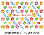 summer greeting card with... | Shutterstock .eps vector #401559046