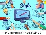 style design elegant posh... | Shutterstock . vector #401562436