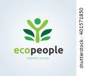 eco people logo   Shutterstock .eps vector #401571850