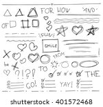 sketch  set of  vector hand... | Shutterstock .eps vector #401572468