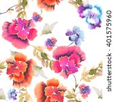 beautiful floral seamless... | Shutterstock . vector #401575960