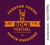 rock festival  t shirt print ... | Shutterstock .eps vector #401578996