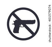 no guns sign with powerful...