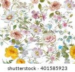 floral hand made design | Shutterstock . vector #401585923