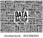 data backup word cloud concept | Shutterstock .eps vector #401586904