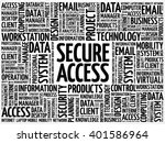 secure access word cloud concept | Shutterstock .eps vector #401586964