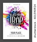 electro trap  party night... | Shutterstock .eps vector #401590924