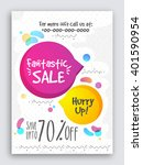 fantastic sale poster  sale... | Shutterstock .eps vector #401590954