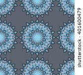 round mandala seamless pattern. ... | Shutterstock .eps vector #401600479
