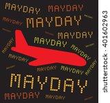 plane crashing. mayday. vector... | Shutterstock .eps vector #401602963