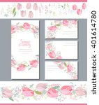 floral spring templates with... | Shutterstock .eps vector #401614780