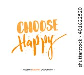 choose happy. color... | Shutterstock .eps vector #401622520