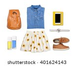 outfit of clothes and woman... | Shutterstock . vector #401624143