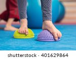 flat feet correction exercise   ... | Shutterstock . vector #401629864