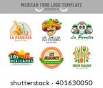 mexican food logo. vector logo... | Shutterstock .eps vector #401630050