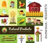 farm household for natural...   Shutterstock .eps vector #401635573