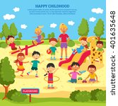 illustration of children... | Shutterstock .eps vector #401635648