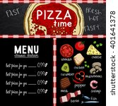sample menu design in the... | Shutterstock .eps vector #401641378