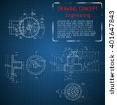 mechanical engineering drawings ... | Shutterstock .eps vector #401647843