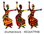 dancing people in ethnic style