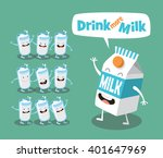 funny milk and cup. vector... | Shutterstock .eps vector #401647969