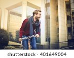 man riding a bike | Shutterstock . vector #401649004