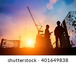 silhouette young engineer... | Shutterstock . vector #401649838
