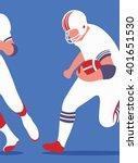American Football. Art Poster....