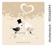 wedding card  | Shutterstock .eps vector #401666044