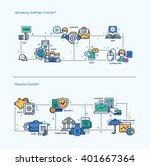 technical support  finance... | Shutterstock .eps vector #401667364