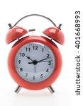 red classic alarm clock... | Shutterstock . vector #401668993