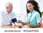 young happy professional nurse... | Shutterstock . vector #401669500