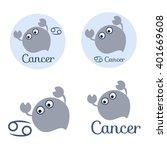 cancer cartoon character set.... | Shutterstock .eps vector #401669608