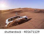 desert safari suvs bashing... | Shutterstock . vector #401671129