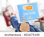 chat room online messaging... | Shutterstock . vector #401675140