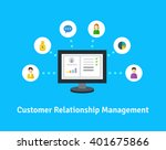customer relationship... | Shutterstock .eps vector #401675866