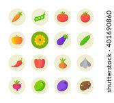 vegetables icons  | Shutterstock .eps vector #401690860