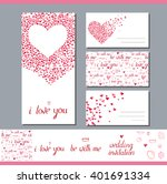 templates with heart made of... | Shutterstock .eps vector #401691334