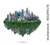 fancy island city concept...   Shutterstock . vector #401694178