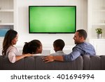 parents and children watching... | Shutterstock . vector #401694994