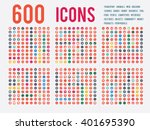 large selection of simple icons ... | Shutterstock .eps vector #401695390