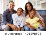 portrait of parents and young... | Shutterstock . vector #401698978